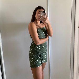 Aeropostale Green Polka Dot Mini Dress